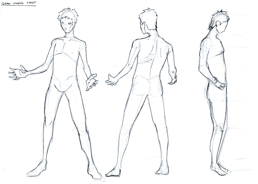 It is a photo of Handy Character Template Drawing